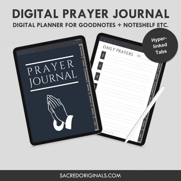prayer journal digital planner